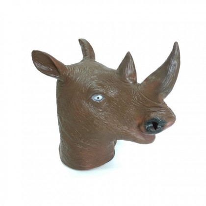 Halloween DTP Costume Cosplay Party Rhinoceros Mask