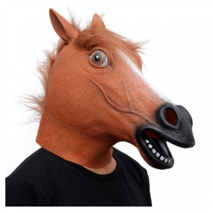 DTP  Costume Cosplay Party  Brown Head Horse Mask