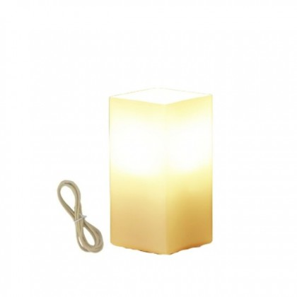 Cube Touch Lamp in Orange & White Colours