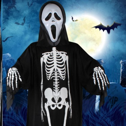 Halloween Skeleton Costume for Women Men Unisex