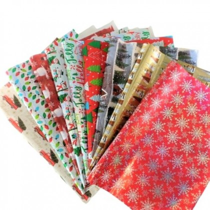 QP X'mas Shinning Wrapping Paper For Christmas Gift (Random)