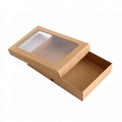 Handmade Transparent Window Craft Box For Event Party Supplies Gift Cake Flower Craft