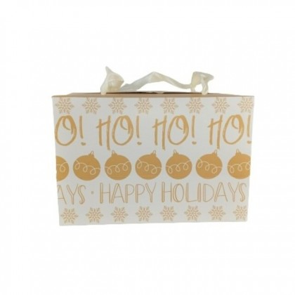 X'mas Carrier Gold Rectangle Christmas Gift Box Packaging (S/M)