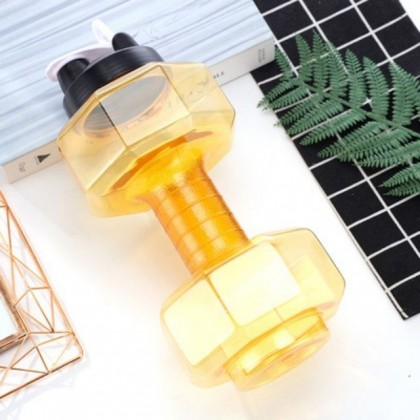Fashion Dumbbell Water Bottle - Yellow / Blue in Big Volume