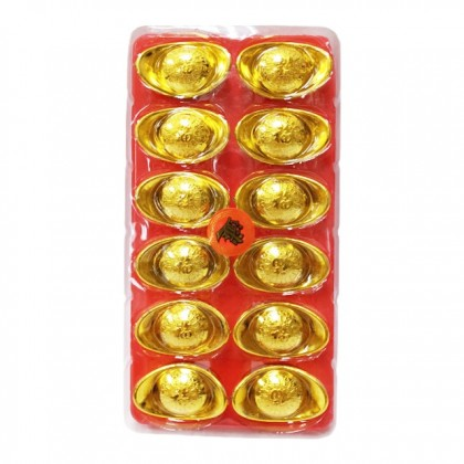 Chinese New Year CNY Gold Ingots 2.5cm/4cm/8.5cm/9cm/18cm/25cm