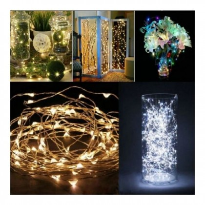 4m String Fairy Lights LED Battery Operated Wedding Christmas Party Lights