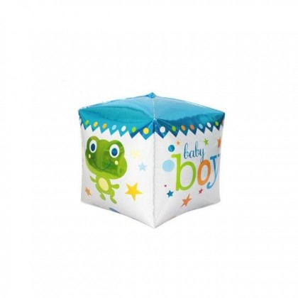 Square Cube Happy Birthday Foil Balloons Baby Boy Kids Party Supplies