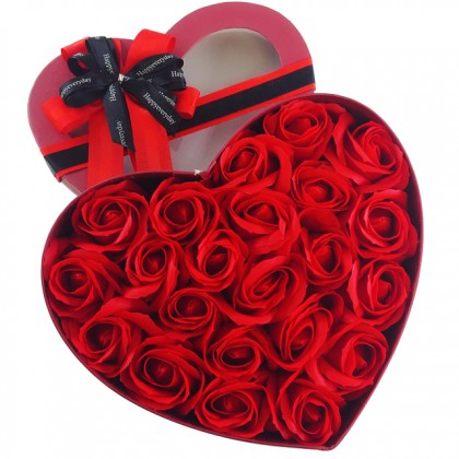 You're Not Alone with Boyfriend Arm and Roses Soap Flowers Gift Box Balloons Set