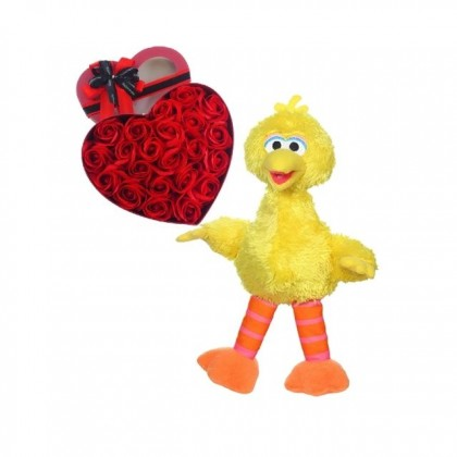 Valentine Package: Valentine Soap Roses Flower and Bear Gifts Combo For Her / Him
