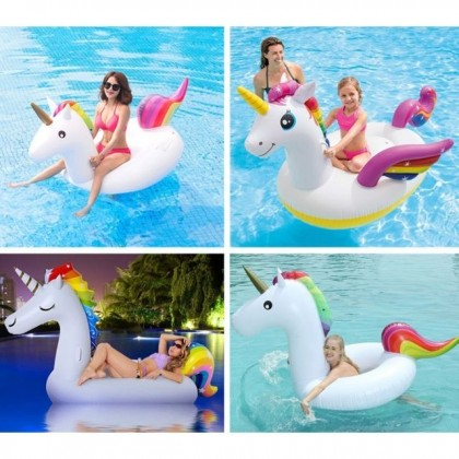 Inflatable Pool Floats Unicorn Floaty Toys for Pool Party