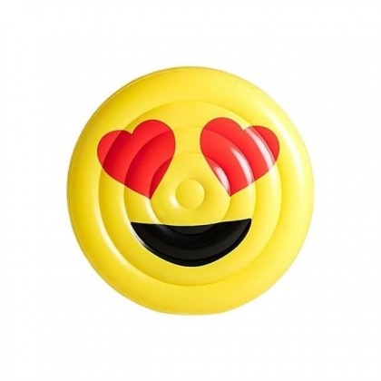 Inflatable Pool Floats Emoji Face Floaty Toys for Pool Party