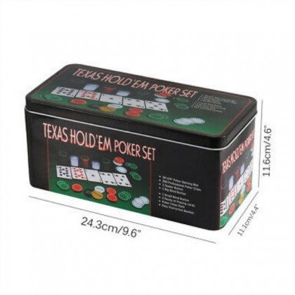 Professional Poker Set 200 Chips Texas Hold Casino