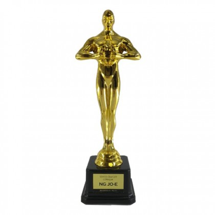 Customized Oscar / Greatest Figure / Trophy With Regular Pillar / Personalized Trophy Text Award Recognition