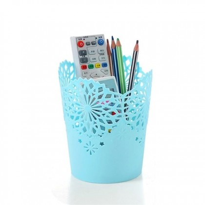 S&J Co. Eco Multi-purpose Plastic Elegant Art Bin Storage Container Basket Home Office Organisation