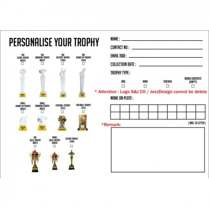 Diamond Glass Trophy With Regular Pillar / Gift / Awards with Customized Text