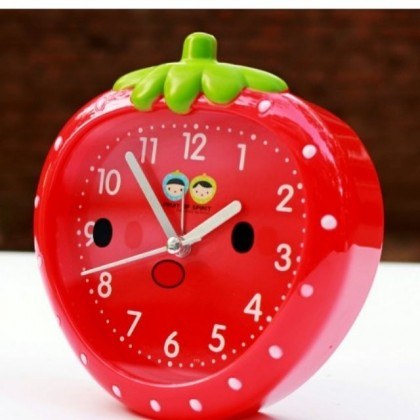 Cute Strawberry Face Alarm Clock Home Office