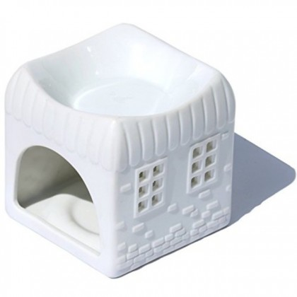 White Oil Burner-Aromatherapy Scent Candle Holder