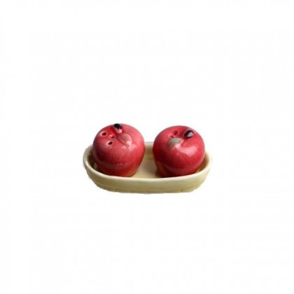 Ceramic Apple of My Eye Salt and Pepper Shakers Tools Kitchen Decoration
