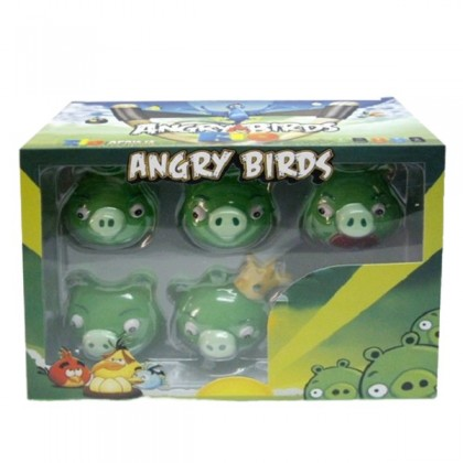 Collection Angry Birds Green Pig (6 Pcs) Collectors Items (Stock Clearance)