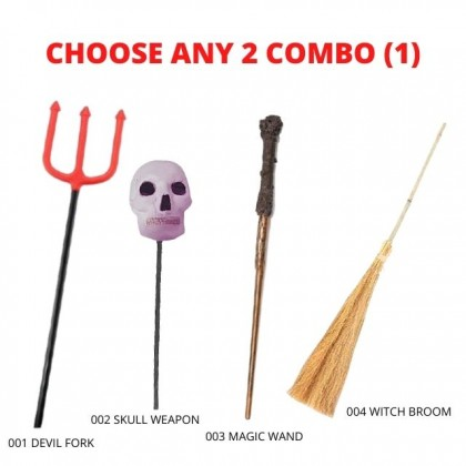 Halloween Scary Skull Fake Weapon Toy
