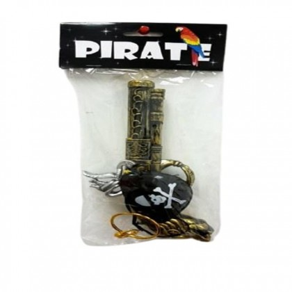 Halloween Fake Pirate Toy Gun With Eye Mask
