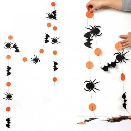 Halloween Wall Hanging Deco With Spider Paper (3 meter)